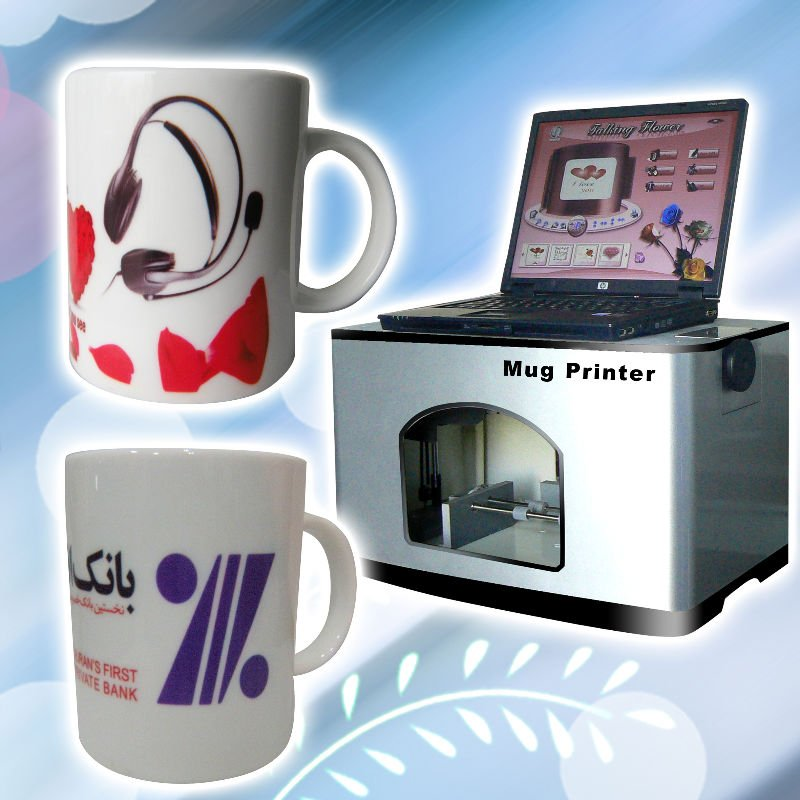 digitale inkject multifunctionele 3d plastic printer, glas, mok, metalen, keramische drukmachine