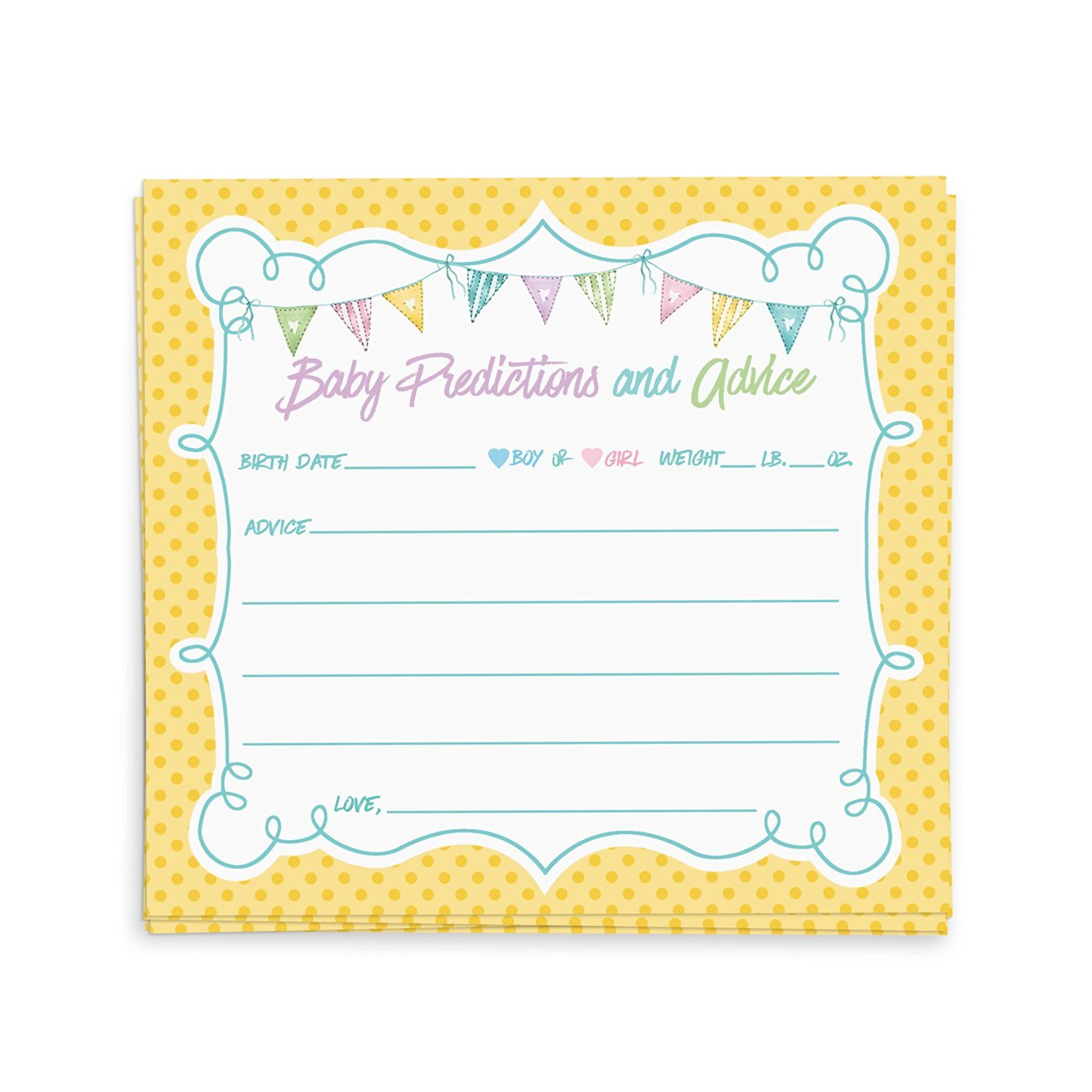 Buy 40 Baby Shower Advice Cards Advice For The New Mommy Baby