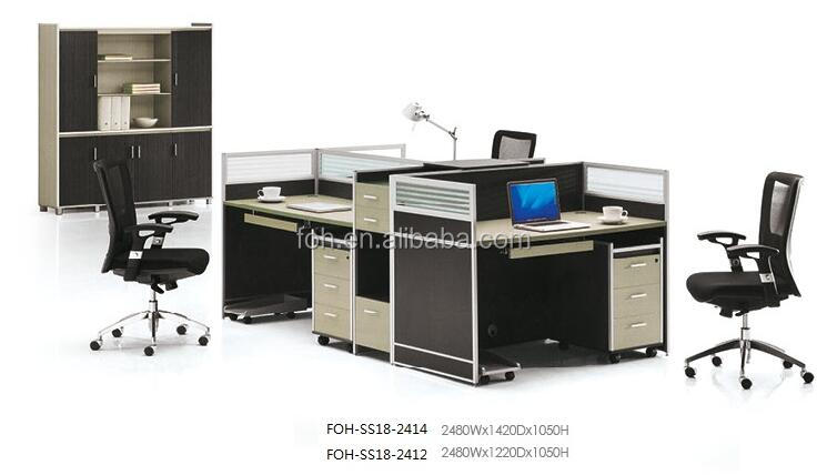 Guangzhou High Quality Modern Unique 3 Person Office Workstation (FOH-SS18-2414)