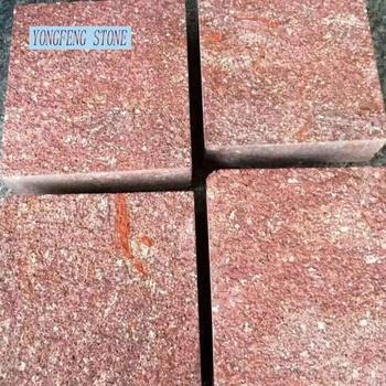 Rot Porphyr Ziegel Cube Blut Steinplatte Cut Geschliffen Buy Rot - Steinplatte 60x60