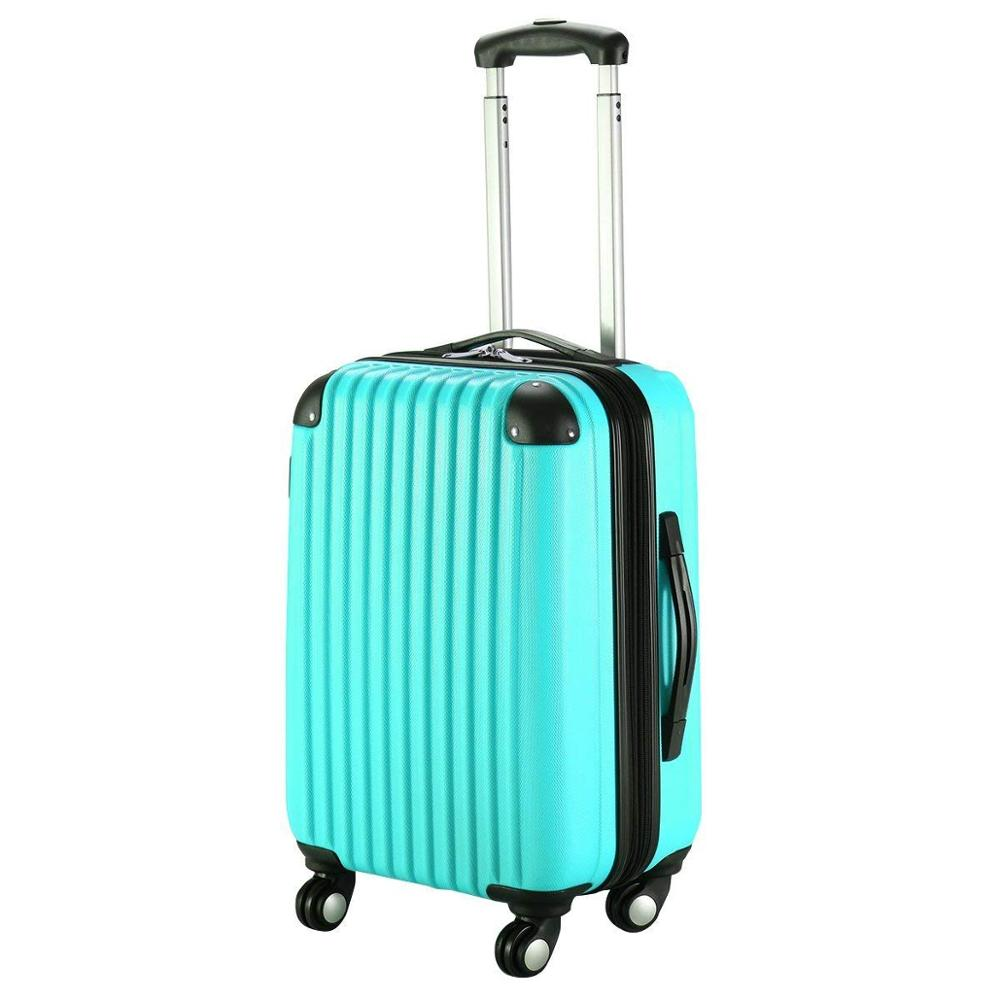 20 inch Expandable ABS Carry On Luggage Travel Bag Trolley Suitcase