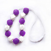 latest design children beads imitation pearl necklace