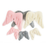 Factory price felt christmas decoration felt crafts Angel wings
