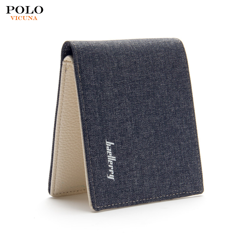 Promotional simple design casual vintage canvas hardware card holder <strong>wallet</strong> for men