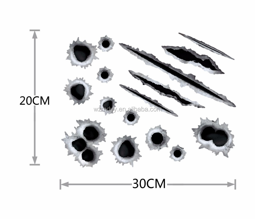 Car Decoration Decal Bullet Hole Sticker Car Painting