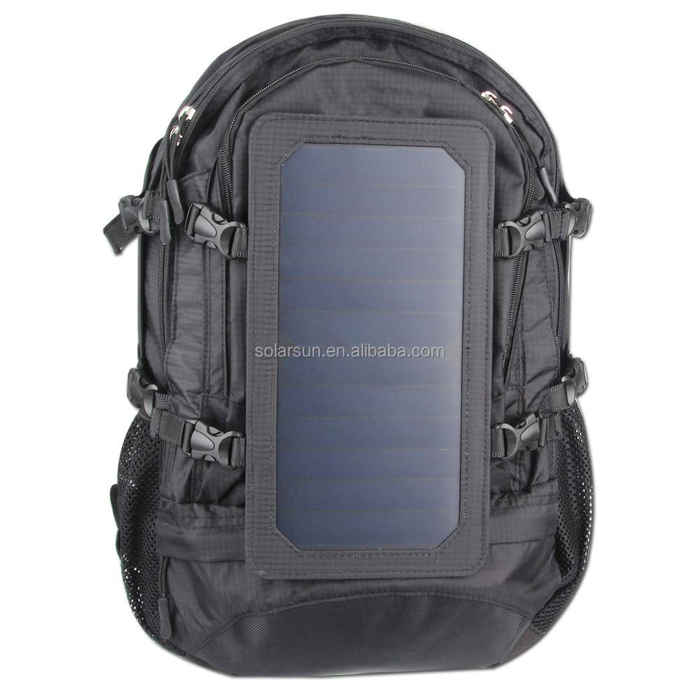 6.5w solar charging backpack best selling laptop solar charger bag