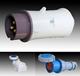 TIBOX IP 67 conceal mounting5 way electrical extension socket for industry