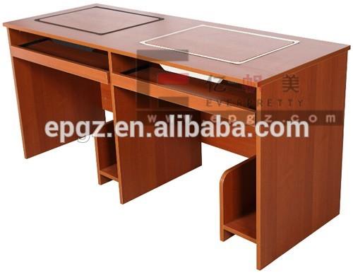 Bureau dordinateur en bois pour Étudiants laboratoire ordinateur