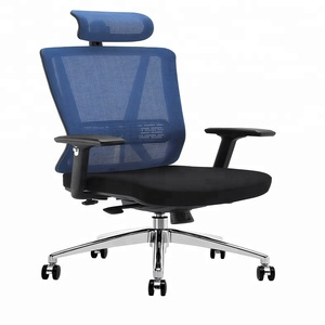 Useful fine workmansip tiltable office chair with mesh cushion