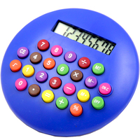 Y-1003A hamburger 8 digits small size fancy gift round calculator promotional