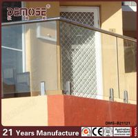 Swimming Pool Fence Glass Railing D type stainless steel round glass clamp