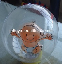 PVC,TPU Inflatable Beach Ball, water ball with animal inside