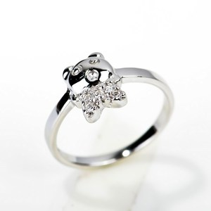 Cute Lovely Silver Children Rings Animal Design Pussy Ring Fitness Kids Jewelry