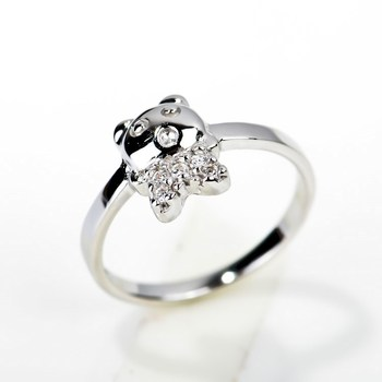 w signity cz ring rings sterling eyes silver animal wedding grande leopard fashion green products zhannel panther