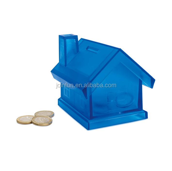 custom make plastic house shaped piggy bank, customized piggy banks of house-shaped bank