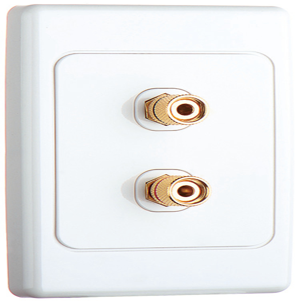 Speaker Cable Wall Socket Plate 2 Banana Plug with Screws