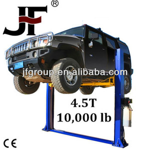 high quality car lift 2 post 4 5 ton with CE