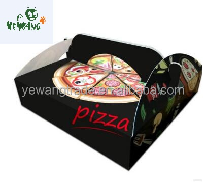 Customized cardboard box manufacturers with handle pizza food box