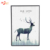 Modern decorative painting elk all the way with framed oil painting
