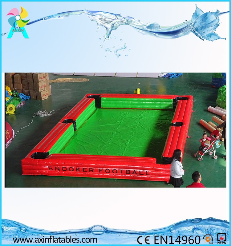 Cheap price adult games inflatable pool soccer table for sale
