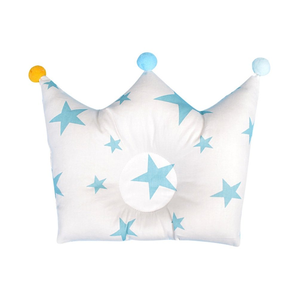 Newborn Baby Infant Pillow Head Shaping Crown Shape Memory Pillows Comfortable Sleeping Pillow Protection for Flat Head Syndrome Cute Soft Pillow by Tracfy