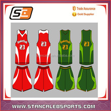 Stan Caleb Sublimated double face basketball unfior design,cheap reversible basketball uniforms design