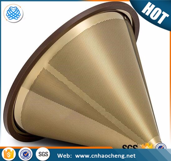 Titanium Coated Stainless Steel Coffee Filter Cone Clever