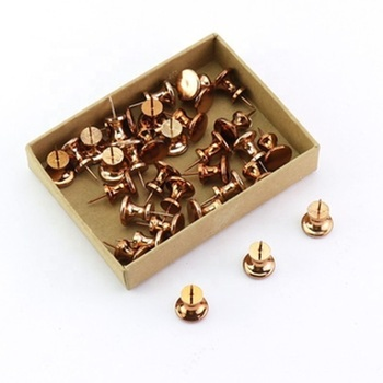 Custom plastic metal rose gold push pin used for world map whiteboard