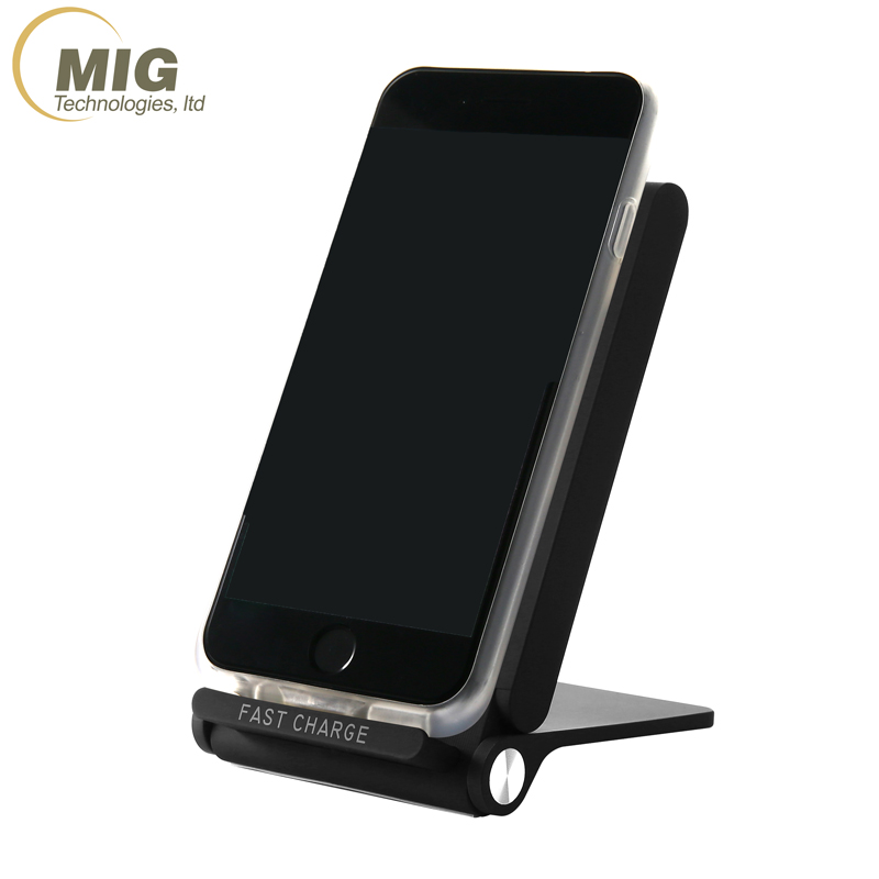 Original Qi Foldable Fast Charge Stand For Iphone X 8 For Samsung S9 S9  Plus For Htc Smartphone Wireless Charger Fast 3 Coils - Buy Wireless  Charger