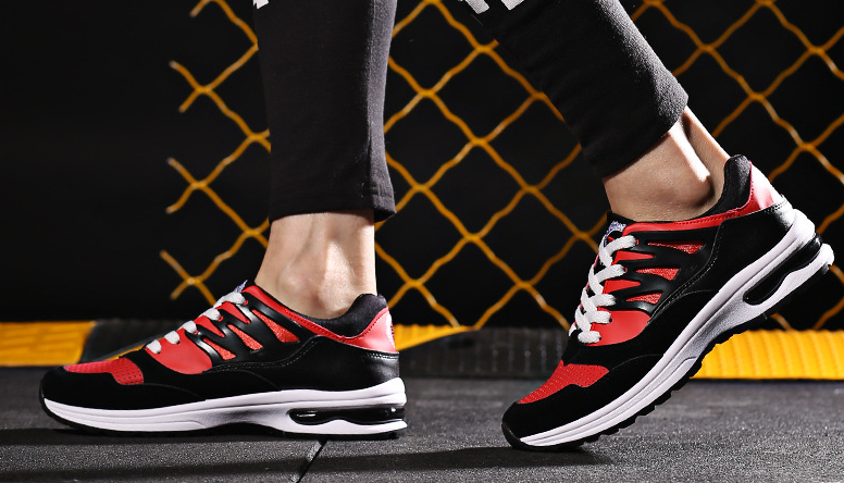 The new style hot sale Korean fashion greadine weap stripe purity skid comfortable ventilate casual sports shoes