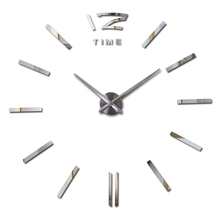 2016 New Diy 3d Acrylic Mirror Large Home Decoration Clock Wall Clocks Horloge Watch Quartz Living Room Circular Free Shipping