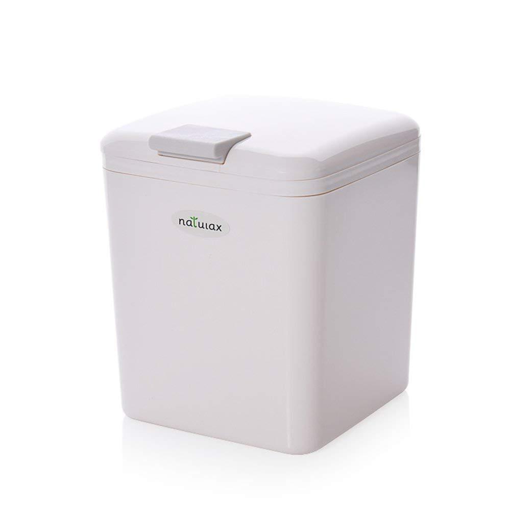 HaloVa Trash Can, Mini Detachable Rectangular Garbage Bin, Creative Fashion Wastebasket with Lid for Car Home Kitchen Office Livingroom Bedroom