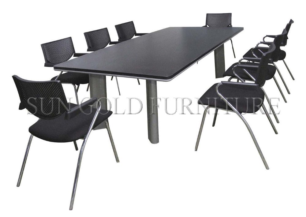 Moderna IKEA pequeño melamina ronda mesa de reuniones de oficina ( SZ-MT123  )