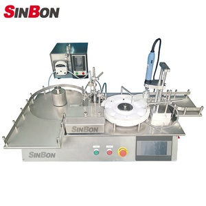 Tabletop automatic liquid filling and capping machine