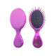Purple Rolling Comb Professional Pig Pure Bristle Hair Brush