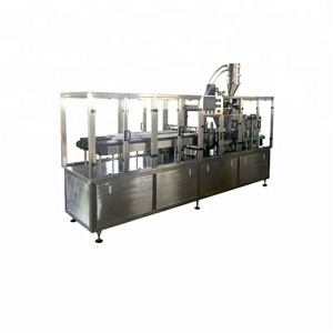 Full Automatic High Speed 4 Lane K Cup coffee powder capsule Filling And Sealing packaging Machine