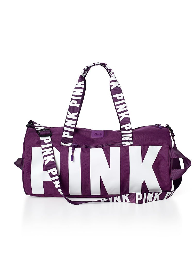 e831e9c529 Buy Victorias Secret PINK Gym Duffle Tote Bag - Mauve Mist in Cheap ...