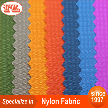 210D Small hidden grid polyurethane coating nylon fabric outdoor apparel