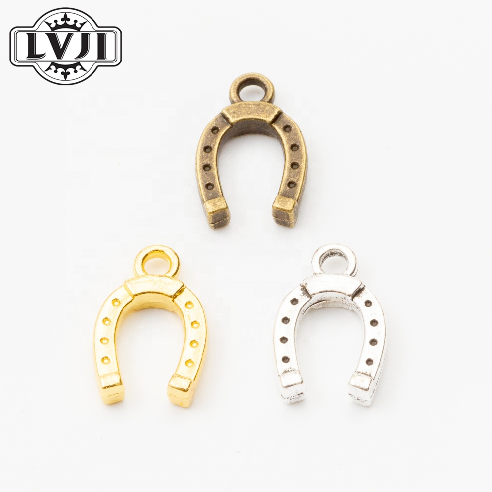 Fashion jewelry Metal Animal horseshoe charms for jewelry making