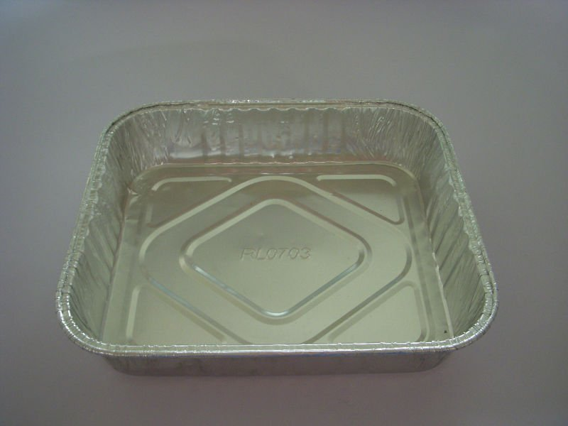 aviation catering foil container for food or BBQ