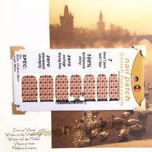 Snake Skin Print Nail Arts Sticker 14 pcs set Waterproof Nail Decal Art Sticker Gel Polish