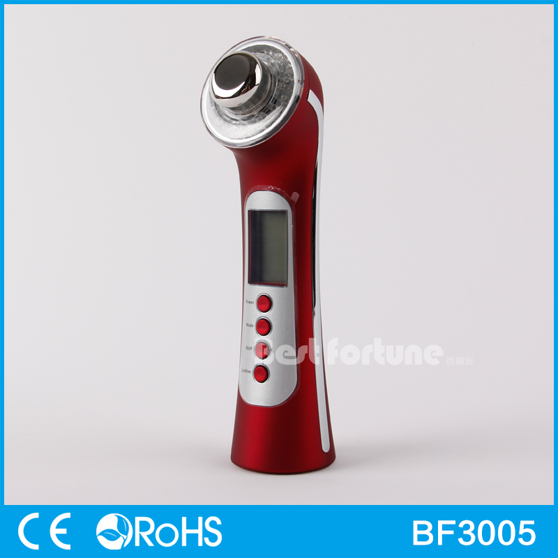 5 in 1 Skin Anti-aging Massager 3MHZ Ultrasonic Galvanic Ion Beauty device