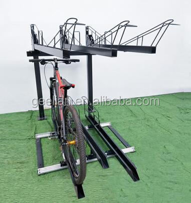 High Quality Galvanized Double Deck Bike Parking Rack and stackable Bike display Stand