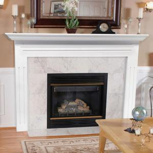 Classical Decoration Beige Marble Electric Fireplace Mantel Surround Home Stone Decoration Fireplace