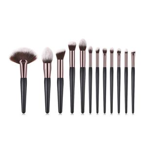 Factory Price 12pcs Beauty Tools Synthetic Soft Brushes cosmetic makeup brush set