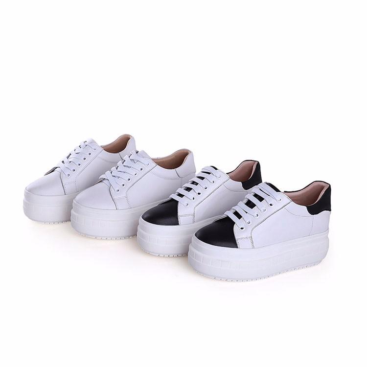 Zapatos Casuales De Mujer A La Moda Zapatos De Mujer Blancos Con Plataforma De Encaje De Cuero Genuino Buy Zapatos,Zapatos De Mujer,Zapatos Blancos