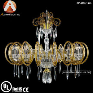 Gold classic Bohemia crystal glass chandelier