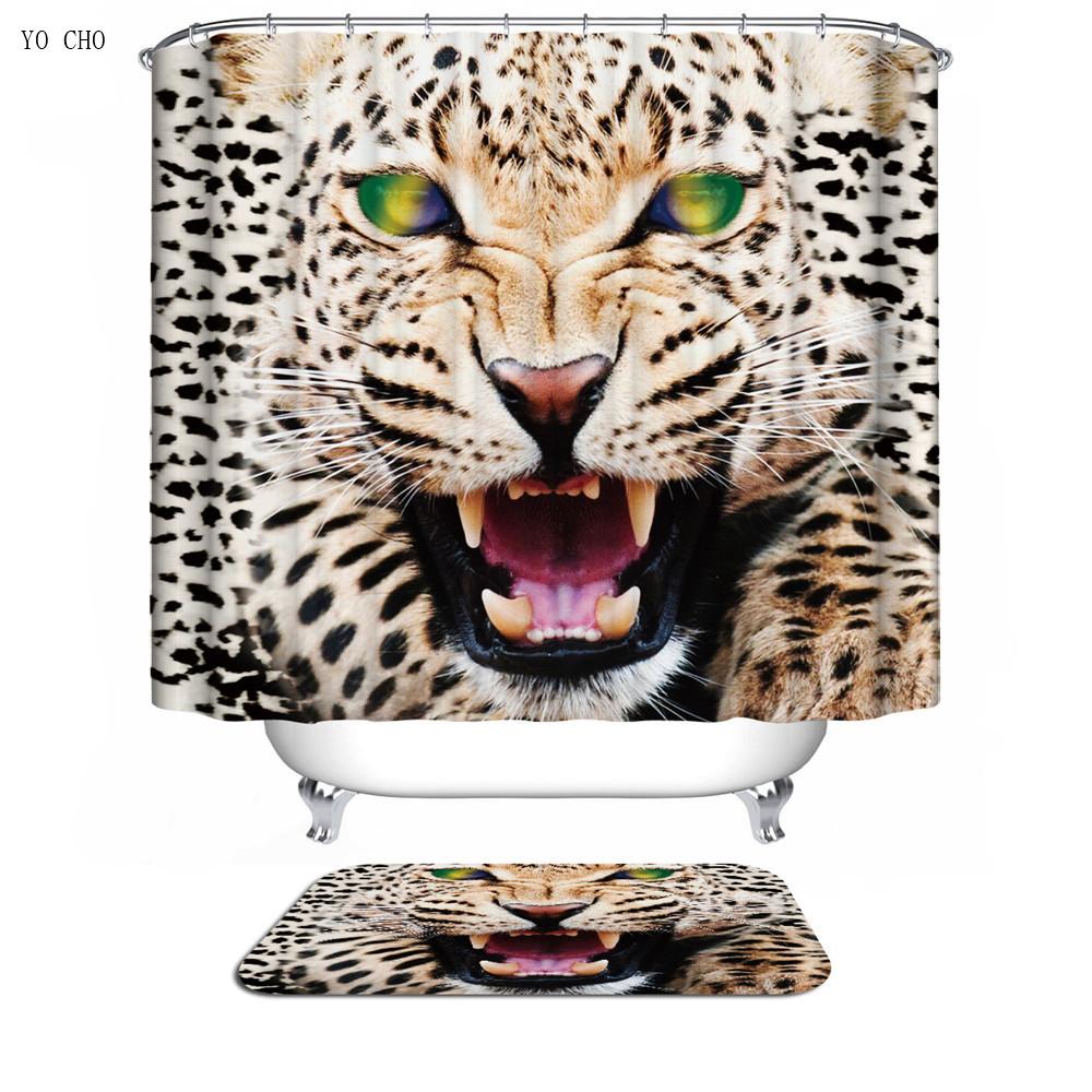caballo tigre len baera bao cortina de polister impresa tela de navidad d anime leopard