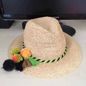9f1d848cd4e 2017 2018 Summer Beach Sun Hat made of Raffia Straw for Fashion Women
