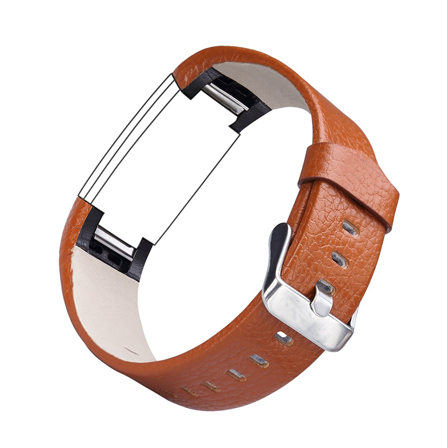For Fitbit Charge 2,CreateGreat Leather Replacement Band for Charge 2 /Charge 2 Fitbit/Fitbit Charge 2